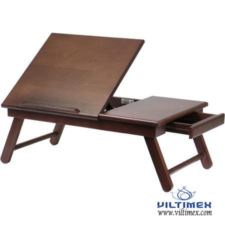 Folding bamboo tray