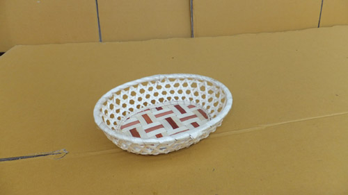 Rattan Reusable Paper Plate Holder