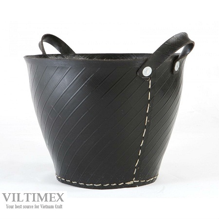 Black Recycle Tyre Trug