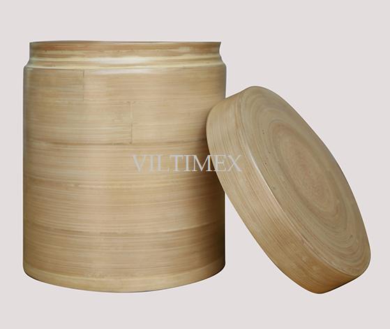 Coiled Bamboo Box - Natural Colour
