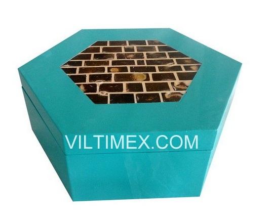 Pentagonal Bamboo & Coconut Box