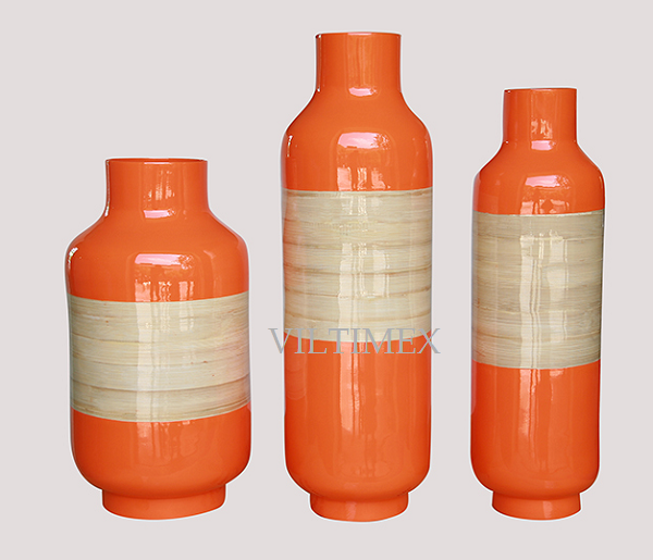 Traditional Bamboo Vases
