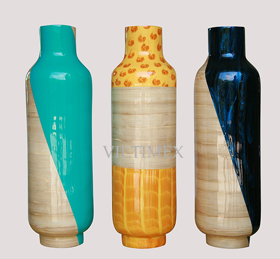 Tall Bamboo Vases