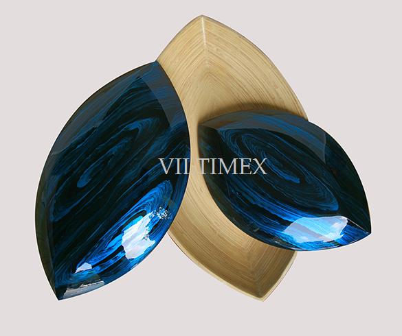 Glossy Bamboo Fruit Bowls - Lozenge